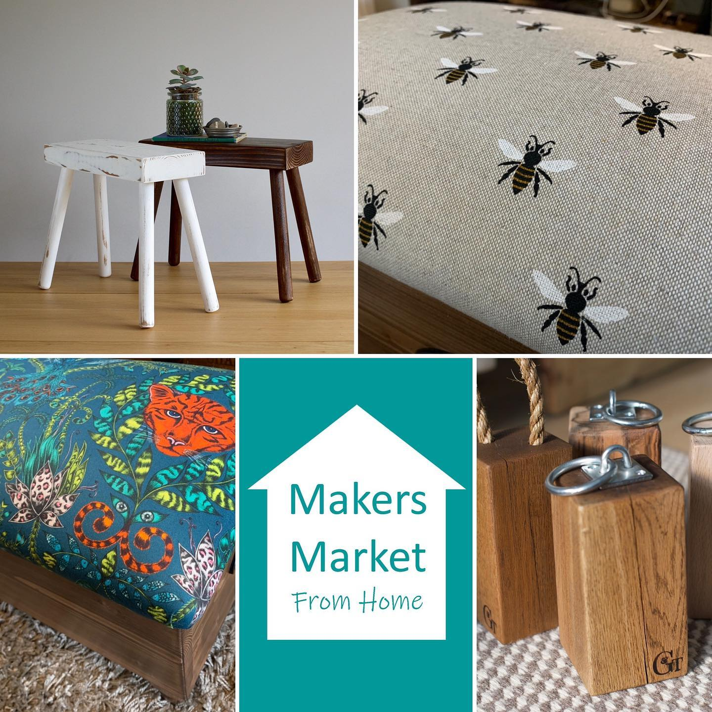 Log into Instagram from 10am and @makersmarketfromhome where you'll see their live video feed with guest makers including us! 😬 we'll be chatting to Andy sometime between 10am and 10.15am. Really excited to be a part of this incredible virtual market! ...#makersmarketfromhome #virtualmarket #makers #smallbusinesses #craft #home #marketday #bankholidayweekend
