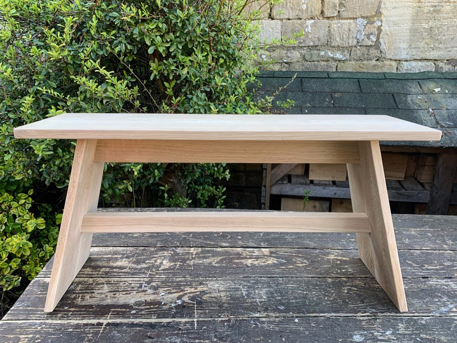 Super pleased with this oak bench! After seeing one of our small stools, somebody asked us if we could create a large version.... I want one for our house now! ...#oak #benchseat #handcrafted #homewares #woodworking #scandinavianstyle #bespoke #gingerandtweed