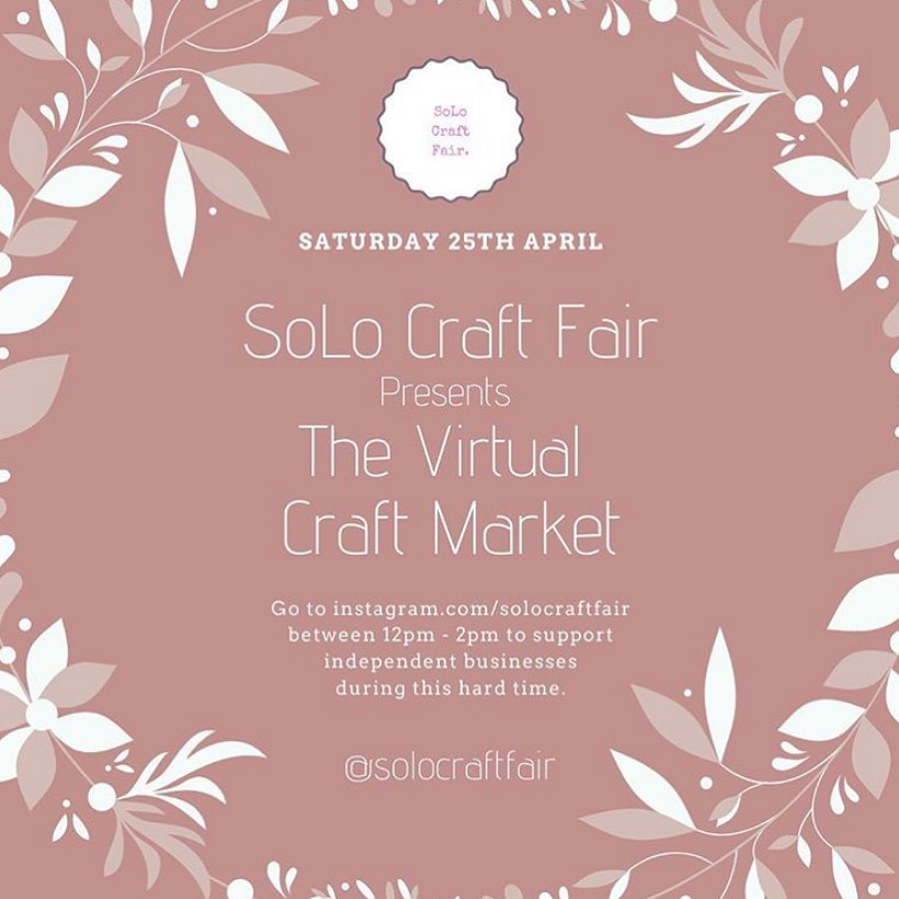 We're excited to be a part of this fab Virtual Market again tomorrow. Head over to @solocraftfair between 12pm and 2pm where they'll be sharing handmade goodies from lots of makers across the country.You can also catch up on stories from previous markets over on their insta page. Even if you don't purchase anything, please like and follow makers that catch your eye, it means so much....#handcrafted #homewares #gingerandtweed #virtualmarket #makers #solocraftfair #stories #share #supportsmallbusiness #shophandmade