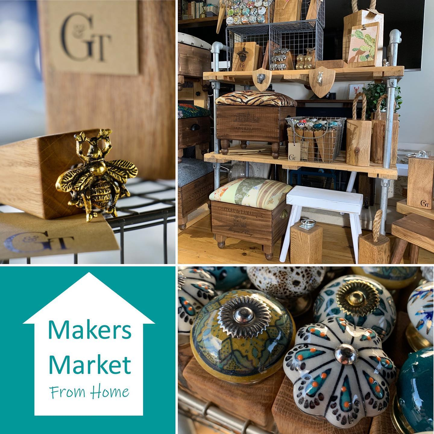 Join @makersmarketfromhome on Saturday between 10am and 3pm where you can watch a live feed of independent makers introducing some of their handcrafted products and chatting about what they do.We'll be starting the day over on our feed with a small introduction to our stall and we will post videos and photos throughout the day. We're excited to be a part of this market again, it's all about celebrating independent makers and supporting them during this challenging time. It's also a great opportunity to follow new people and maybe even do a little shopping... all from the comfort of your home. Follow the hashtag #makersmarketfromhome to see posts from everyone involved....#stayathome #makersgonnamake #handmade #workingfromhome #craft #homewares #independentbusiness #shopsmall #shophamdmade #virtualmarket #home #gingerandtweed