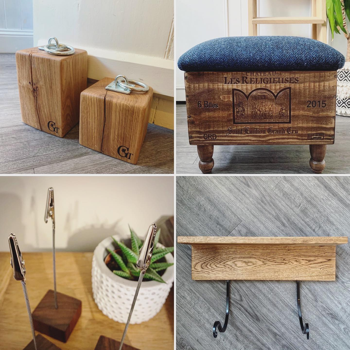 Just a few of the items included in today's @bathartisan virtual Facebook Market.Doorstops from £19Harris Tweed Ottoman £69Photo stands £12 set of 4Yoga mat hooks £45 (shipping costs vary between products- UK only) Hope everyone is having a lovely weekend so far! ...#bathartisan #marketday #virtualmarket #stayathome #craft #design #handmade #homewares #gingerandweed