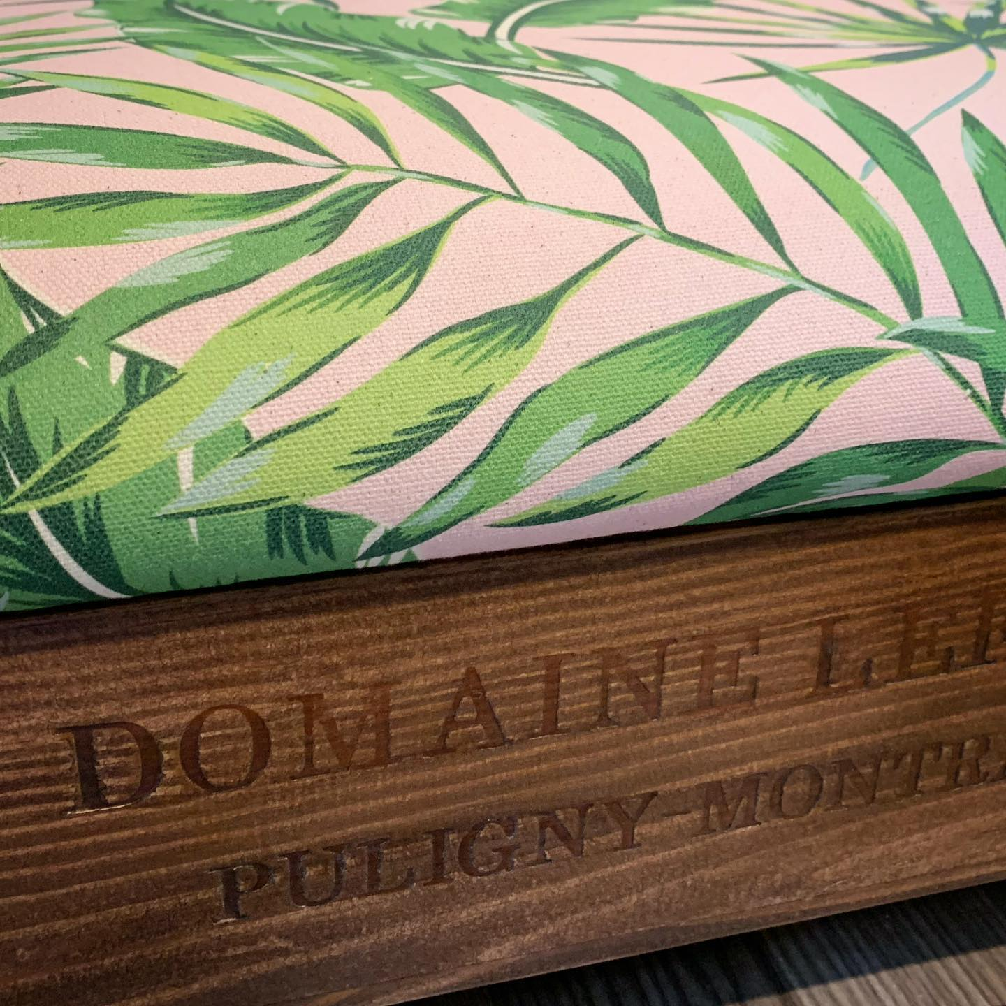A little peek at our latest bespoke ottoman...#botanical #ottoman #bespoke #unique #handcrafted #homedecor #gingerandtweed