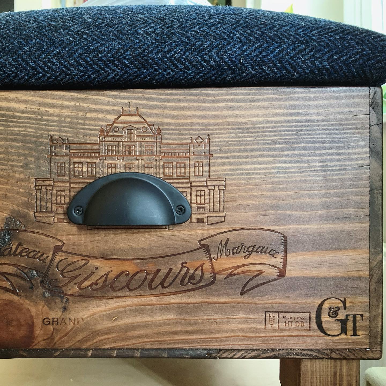 This box is so beautiful! Paired with the Harris Tweed... ....#chateau #homewares #bespoke #wiltshire #wadswick #madetoorder #homedecor #tweed #harristweed #navy #herringbone #margaux #vintage #reuse #recycle #reclaimed