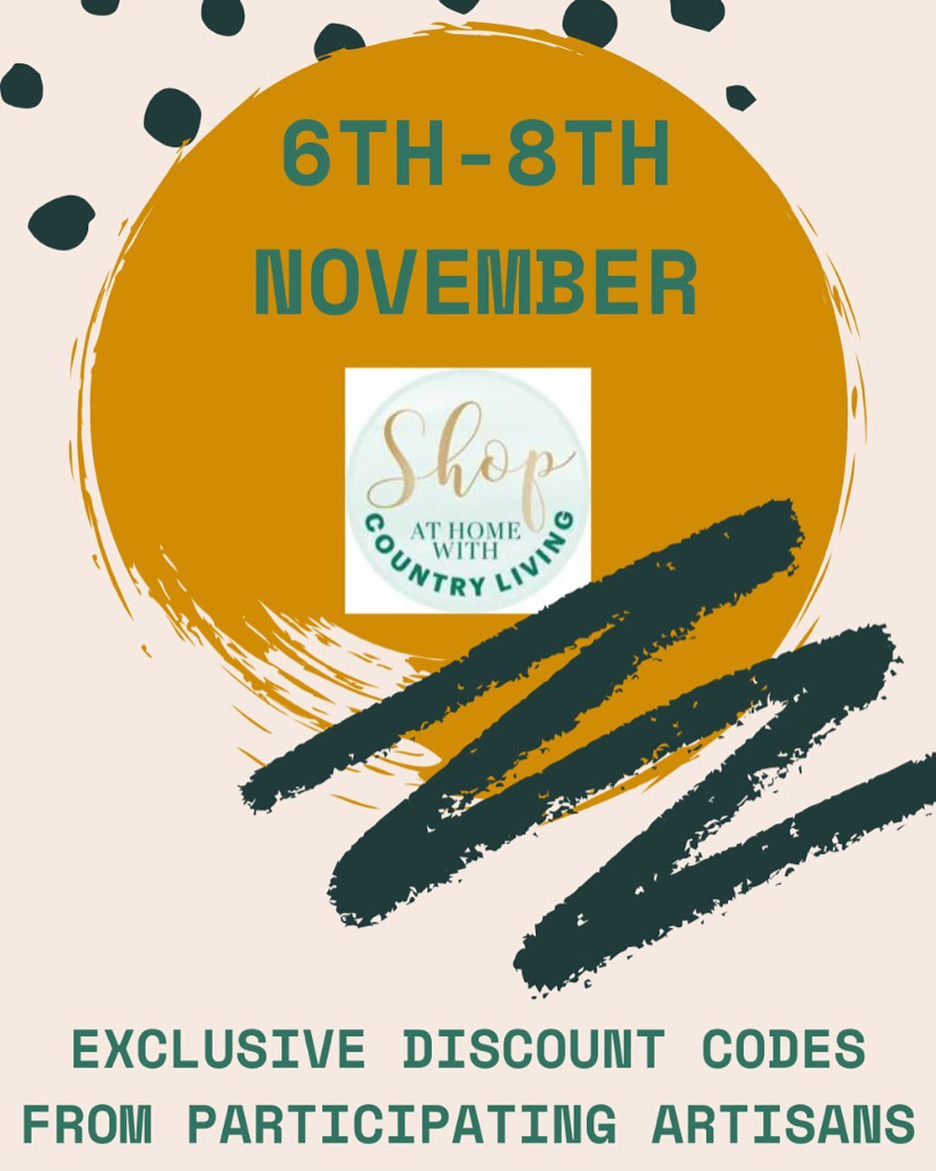 Looking forward to our first event with @clartisans as part of the 'shop at home with Country Living' Christmas fair! Head over to their page and find out how you can sign up for the event and get exclusive discounts from hundreds of independent businesses. The fair is running from Midday on Friday the 6th of November to midnight on the 8th. ...@countrylivinguk #countrylivingchristmas #shopathomewithcountryliving #offers #discounts #christmasshopping