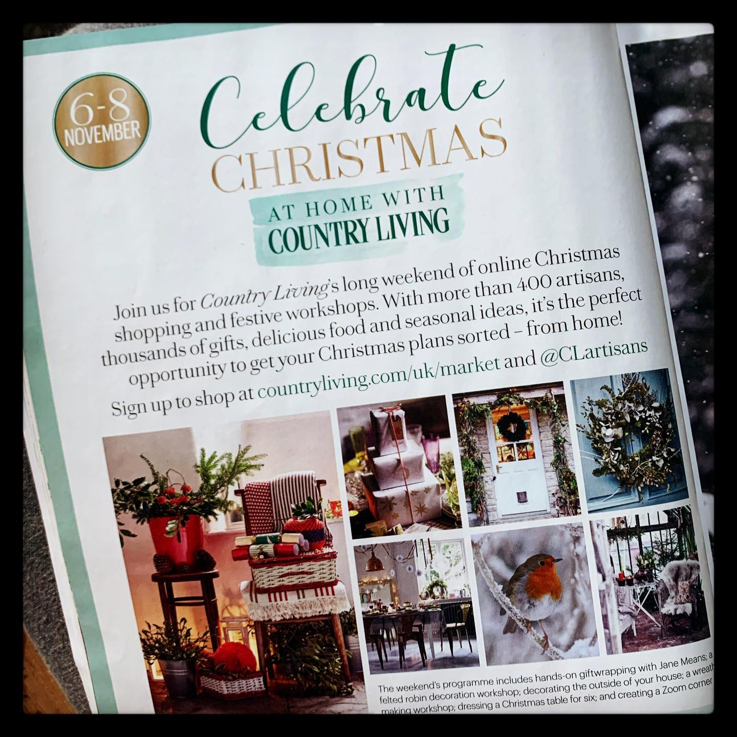 We will be taking part in the @clartisans Christmas event this coming weekend. Head over to their account and register to receive exclusive discounts to hundreds of participating artisans! Offers valid from midday Friday 6th to midnight Sunday 8th.We'll definitely be browsing what's on offer 🙂..@countrylivinguk #countrylivingchristmas #shopfromhome #shoponline #discounts #features #homewares #jewellery #craft #clothing #skincare #takepart #shopsmall #shopindependent
