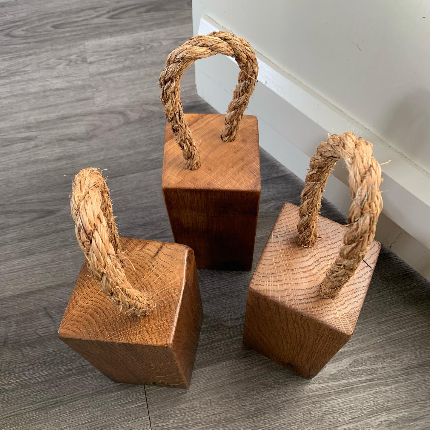 Extra Character standard doorstops are now restocked and the large are almost ready.It's full steam ahead this week with sanding and finishing in time for the opening of the @clevedonsundaymarket online Christmas shop! Head over to their feed for more info and links to the shop. ...#christmasshopping #shopsmall #supportindependentbusinesses #clevedon #bristol #marketday #festiveseason #uniquegifts #localcraft #artisan #gingerandtweed