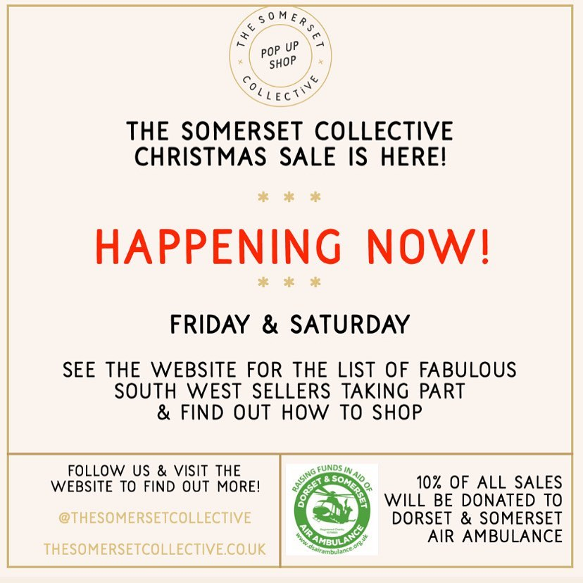 @thesomersetcollective Christmas pop up event is now on. Use code TSCPOPUP with many businesses to receive offers and to ensure 10% of sales go to charity.