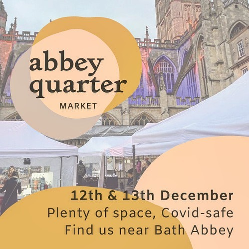 A wonderful little market to visit at the weekend! Snap up some fabulous handcrafted gifts and soak up the festive atmosphere by Baths gorgeous Abbey!