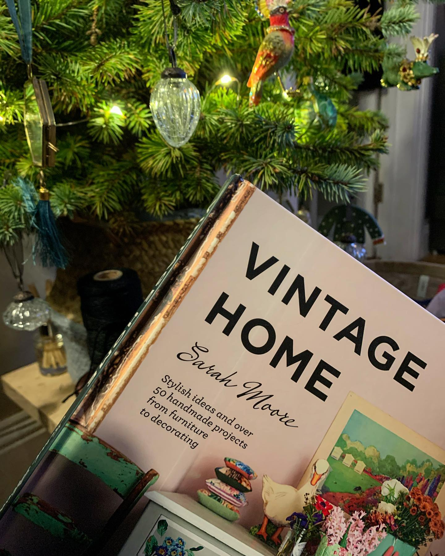 We got this Fabulous book from my folks!Getting inspiration for some small home improvement projects over the next few months. Have to say, we're very much enjoying a little down time, but it's back to work proper tomorrow, we'll be posting progress on some new projects very soon. ....#timeoff #minibreak #christmas #hols #home #decor #bespoke #reading #vintagehome #lightreading #inspiration #design #upcycle #craft #design #ginger #tweed #homewares