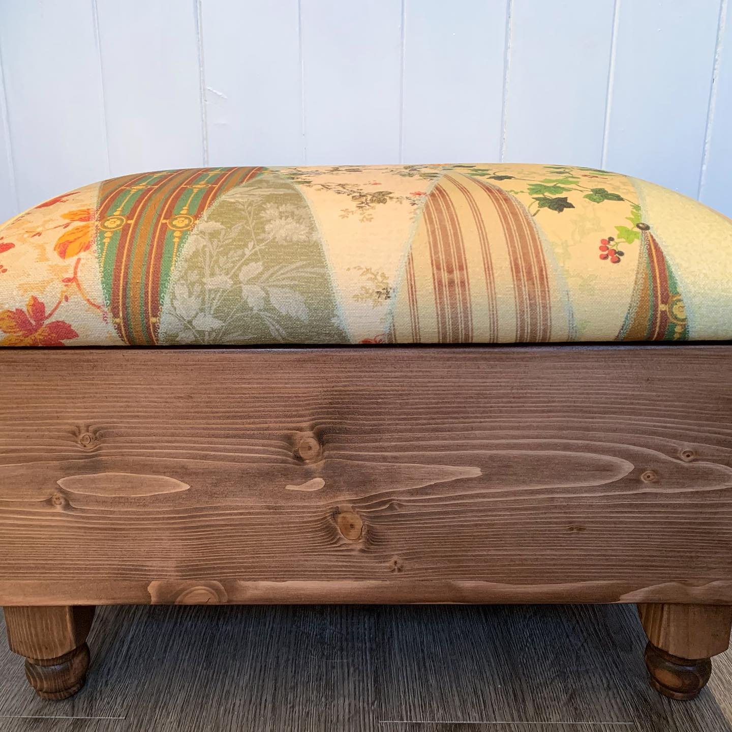 A couple of designs being added to our website this week!#escapetothechateau #tartan #wallpapermuseum #handcrafted #homewares #ottoman #homedecor #storage #reclaimed #wood #shopsmall #shophandmade