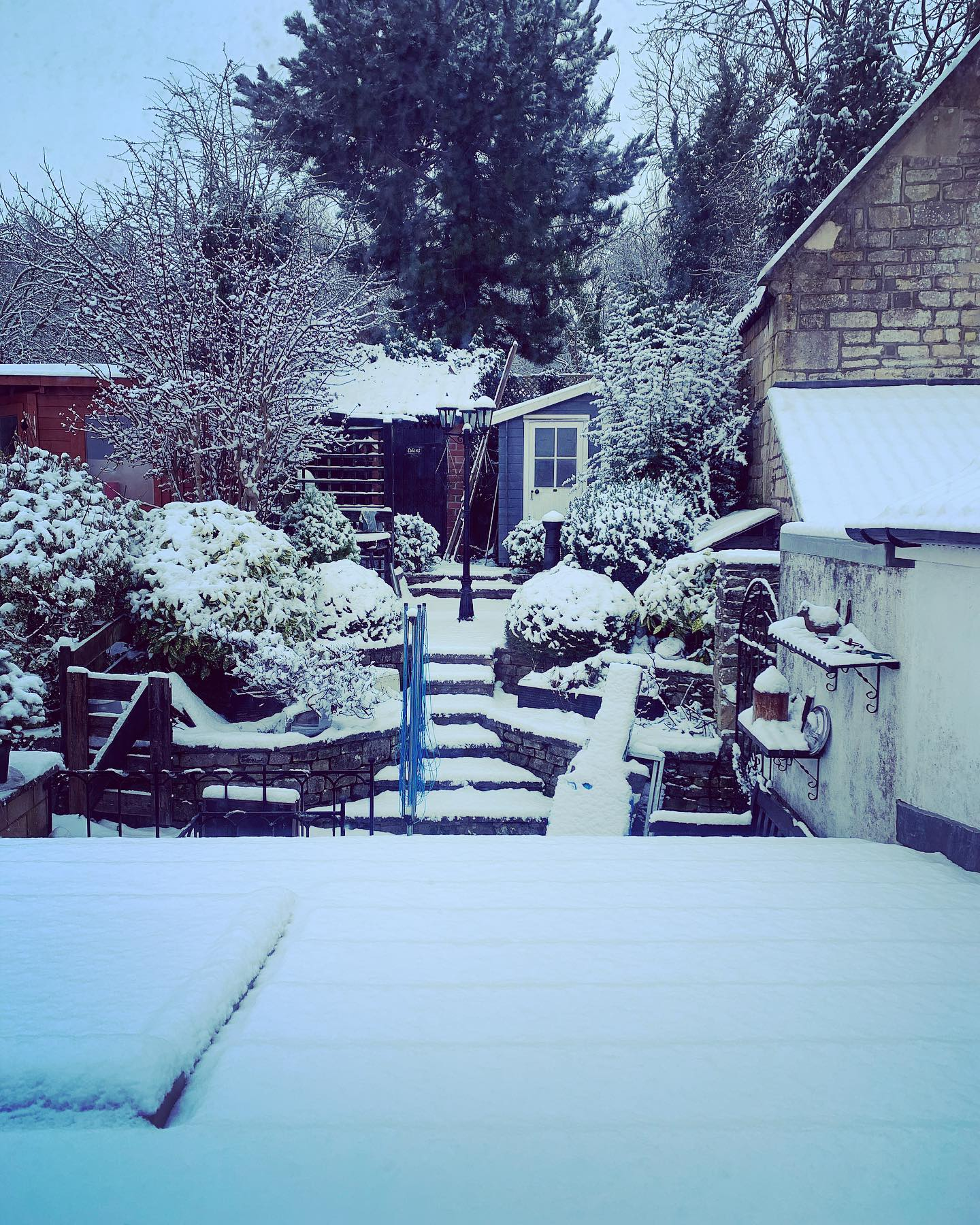 SNOW DAY! ️ ...#snowyay #brrrrr #dayoff #crispandwhite #wintertime #doyouwanttobuildasnowman