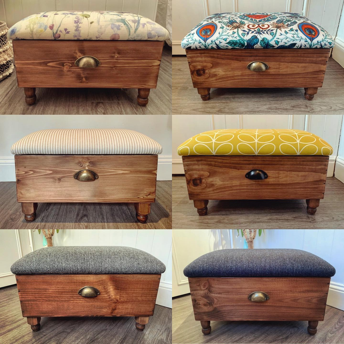 We've been working on some lovely ottomans over the past few weeks. It's such a pleasure creating bespoke pieces for people's homes! ...#handcrafted #homedecor #storage #upholstery #gingerandtweed #bespoke #home #unique #livingroomdecor #beautifulfabric #bedroomstyling #interiorstyles #corordinatefabric