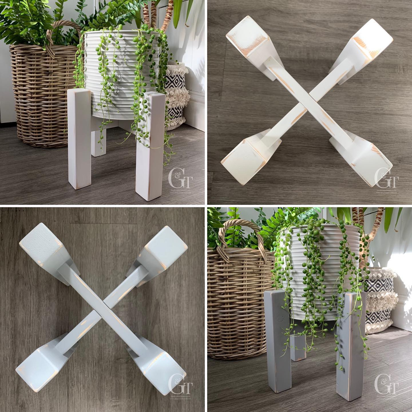 Now available in white and grey!£16 plus postage. ..#indoorplant #plantstand #bringtheoutsidein #homedecor #greenfingers #handcrafted #home #gingerandtweed #gardeninspiration #houseplant #newproduct