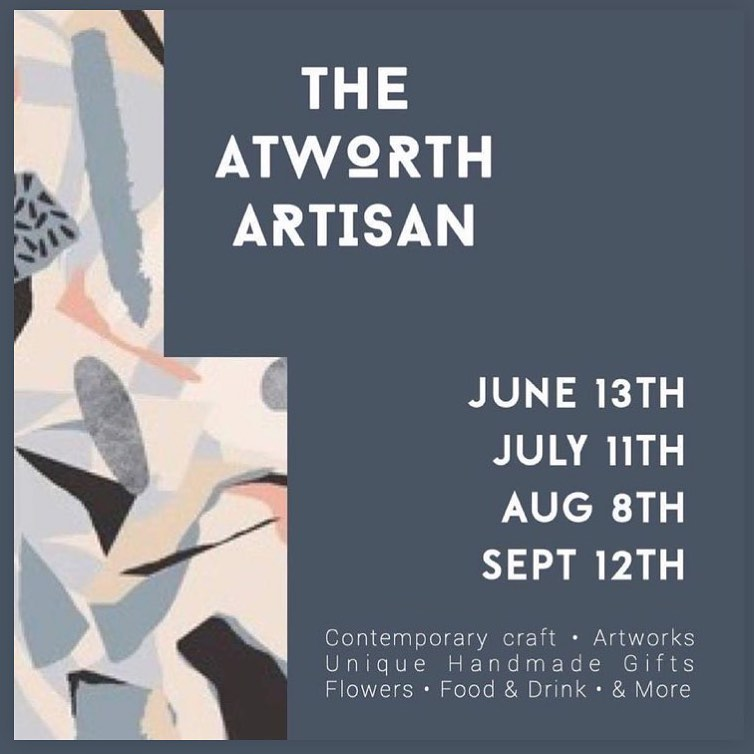We will be in Atworth on the 13th of June at the @theatworthartisan It's super local, in the neighbouring village to ours, and we're really looking forward to meeting lots of fellow makers from around the area and enjoying a day at the lovely White Hart pub!