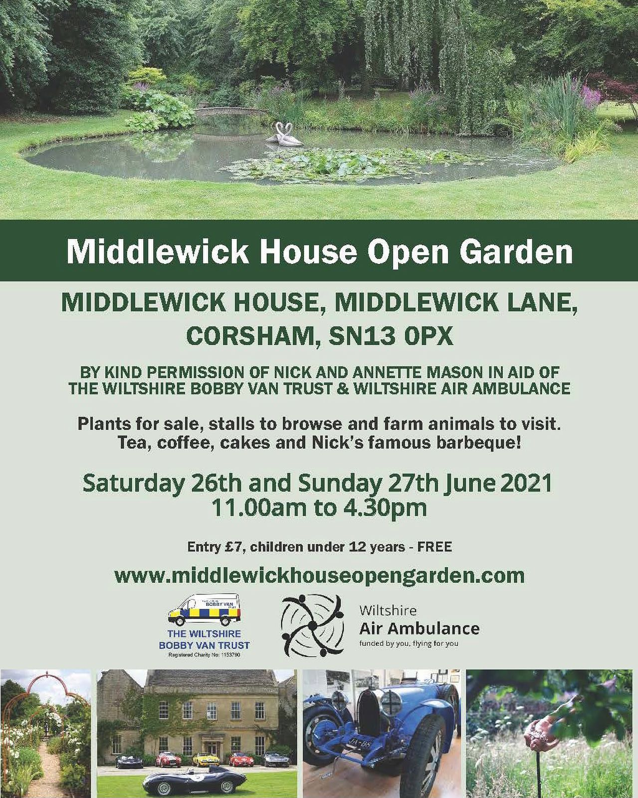We will be taking part in this wonderful local event in a few weeks time.Middlewick House is a stunning location for spending the day shopping eating, drinking admiring classic cars, and taking in the beautiful surroundings. 11-4.30 Saturday 26th and Sunday 27th JuneProceeds go to charity.