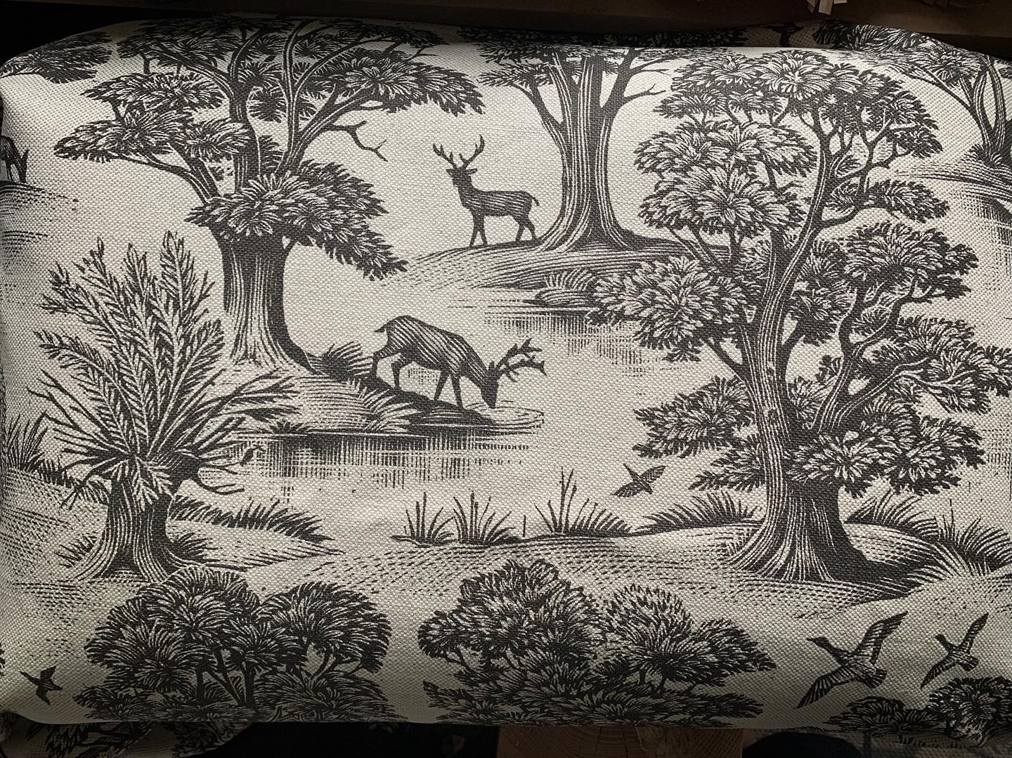 Absolutely love this @lewisandwood fabric! It's very very special. ...#deerpark #upholstery #bespoke #homedecor #beautifulfabric #woodland #print #textiles