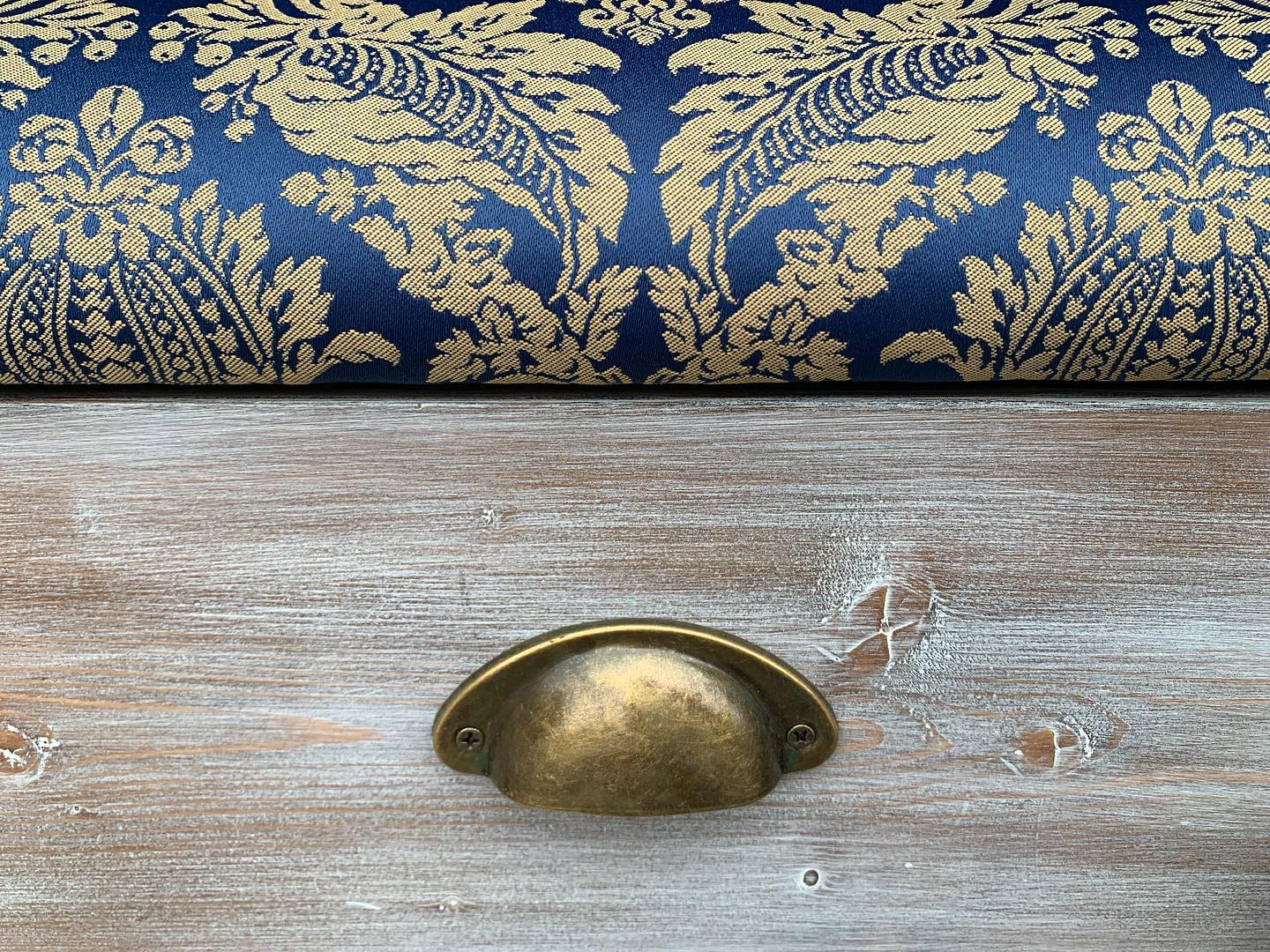We are loving this combo! Just one of the ottomans we are taking to @thecraftandflea tomorrow.